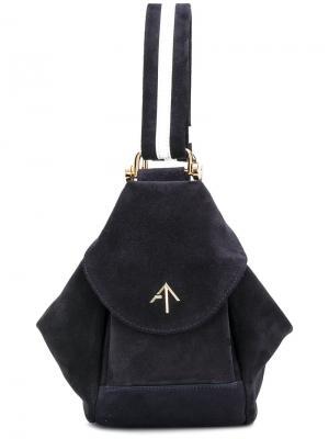 Микро сумка-тоут Fernweh Manu Atelier. Цвет: синий