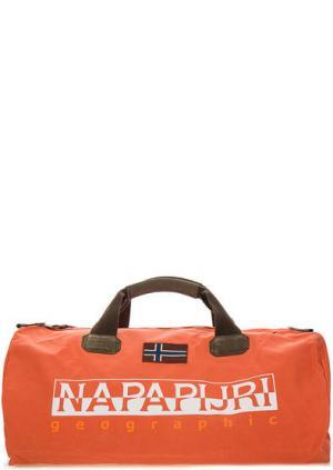 Большая спортивная сумка со съемным плечевым ремнем Napapijri. Цвет: оранжевый