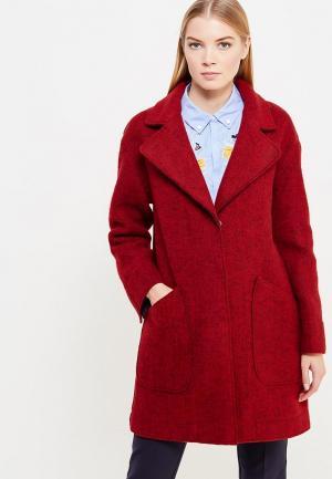 Пальто Pennyblack. Цвет: бордовый