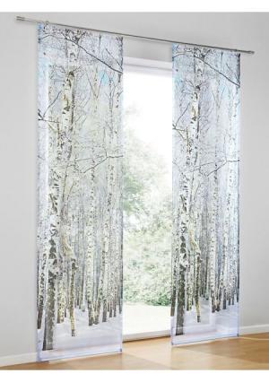 Штора Heine Home. Цвет: белый/серый