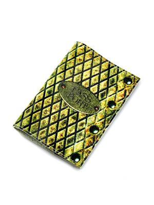 Обложка для паспорта Кажан. Цвет: желтый, зеленый