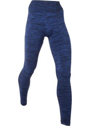 Бесшовные спортивные легинсы (сапфирно-синий меланж) bonprix. Цвет: сапфирно-синий меланж