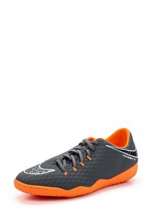 Бутсы зальные Nike. Цвет: серый