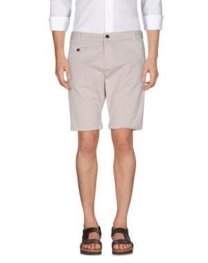 Повседневные шорты YES ZEE by ESSENZA. Цвет: светло-серый
