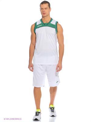 Комплект (майка+шорты) SET LAKE ASICS. Цвет: белый, зеленый