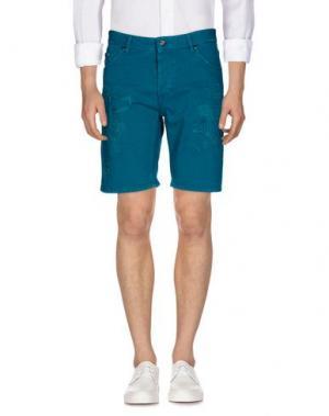 Джинсовые шорты JUST CAVALLI. Цвет: изумрудно-зеленый