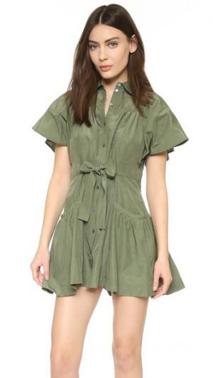 Платье Ilsa Marissa Webb. Цвет: зеленый милитари