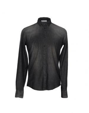 Джинсовая рубашка AGLINI. Цвет: стальной серый