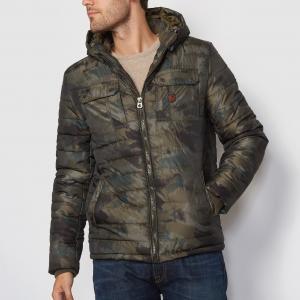 Стеганая куртка с капюшоном PETROL INDUSTRIES. Цвет: золотисто-каштановый