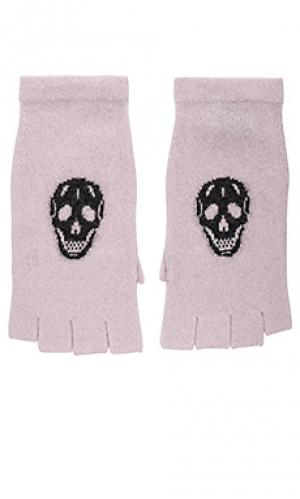 Рукавички с черепом 360 Sweater. Цвет: розовый