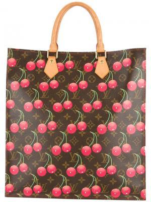 Сумка-тоут с принтом вишен Louis Vuitton Vintage. Цвет: коричневый