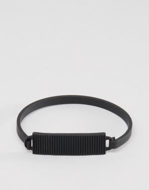 Icon Brand Черный браслет Premium Division ID. Цвет: черный