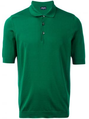 Classic polo shirt Drumohr. Цвет: зелёный