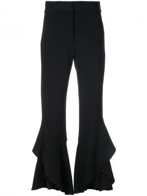 Укороченные брюки клеш Tanya Taylor. Цвет: чёрный