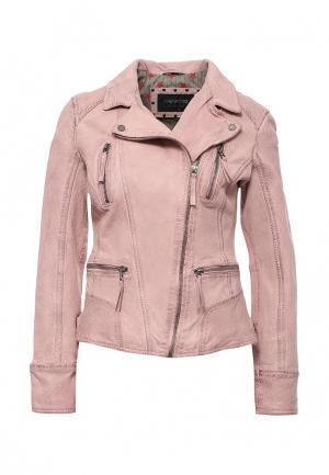 Куртка кожаная Oakwood. Цвет: розовый