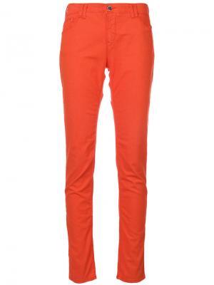 Джинсы скинни Armani Jeans. Цвет: жёлтый и оранжевый