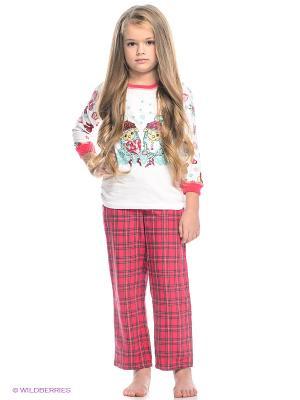 Пижама PELICAN. Цвет: розовый, белый