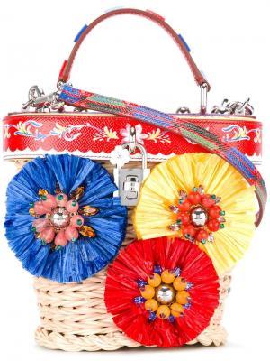 Сумка-корзина Dolce & Gabbana. Цвет: телесный