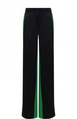 Расклешенные брюки с контрастными вставками Valentino. Цвет: черный