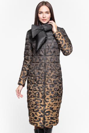 Пуховик Odri. Цвет: леопардовый принт