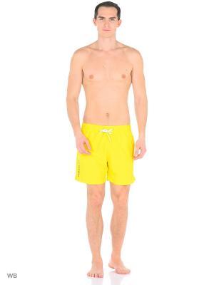 Бордшорты Calvin Klein. Цвет: желтый