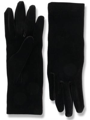Бархатные перчатки Balenciaga. Цвет: чёрный