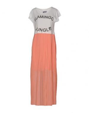 Длинное платье DUCK FARM. Цвет: лососево-розовый