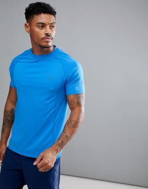 Jack Wills Sporting Goods Синяя футболка Brentwood. Цвет: синий
