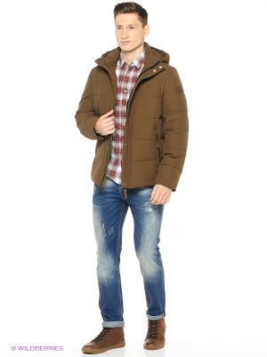 Куртка LEE COOPER. Цвет: коричневый, синий