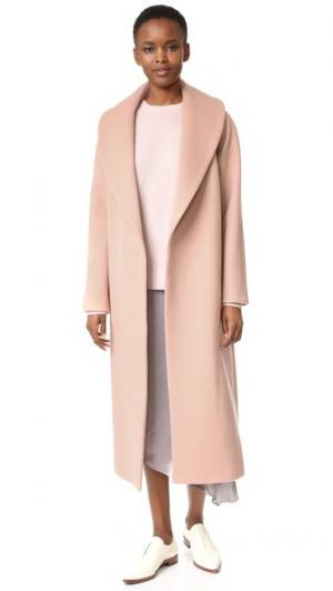 Шерстяное пальто Vera JENNY PARK. Цвет: розовая пыль