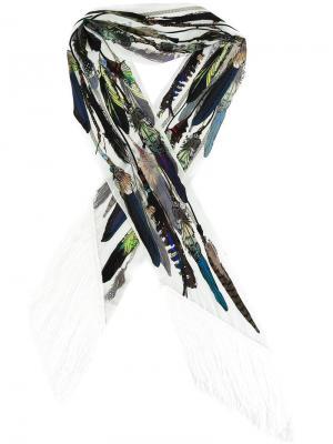 Тонкий платок с бахромой Rockins. Цвет: многоцветный