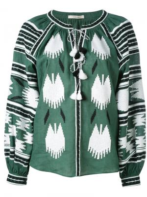 Блузка с вышивкой Vita Kin. Цвет: зелёный