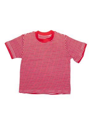 Футболка Клякса. Цвет: красный