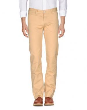 Повседневные брюки HELMUT LANG. Цвет: песочный