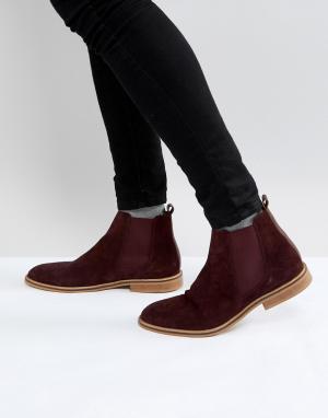 Good For Nothing Бордовые замшевые ботинки челси. Цвет: красный