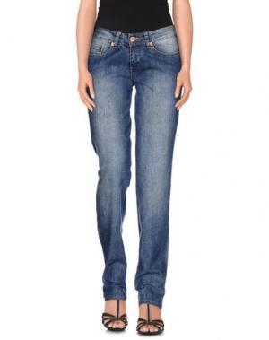 Джинсовые брюки LIST. Цвет: синий
