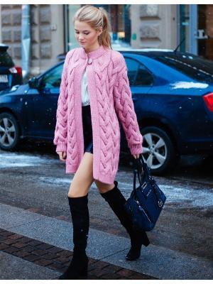 Кардиган Queen Bae Wooly's. Цвет: розовый