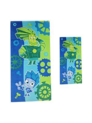 Махровые полотенца фиксики 1078-01-1078-01. Цвет: голубой