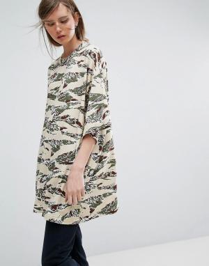 Weekday Платье-футболка Huge. Цвет: мульти