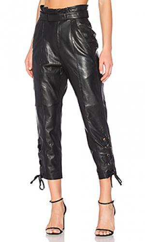 Кожаные брюки kitana Marissa Webb. Цвет: черный