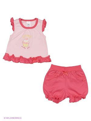 Комплект одежды SMIL. Цвет: бледно-розовый, розовый