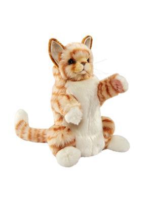 Рыжий кот, игрушка на руку Hansa. Цвет: бежевый, молочный