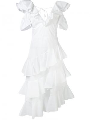 Платье Popeline Daizy Shely. Цвет: белый