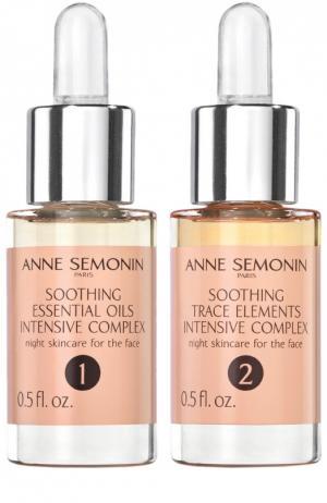 Успокаивающий интенсивный комплекс с эфирными маслами и олигоэлементами Anne Semonin. Цвет: бесцветный