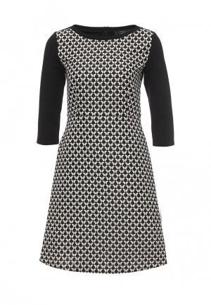 Платье Weekend Max Mara. Цвет: черно-белый