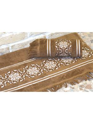 Полотенце махровое 70х140 НОРРИС св. коричневый TOALLA. Цвет: светло-коричневый