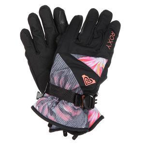 Перчатки сноубордические женские  Jetty Gloves Hawaiian Tropik Para Roxy. Цвет: черный,мультиколор