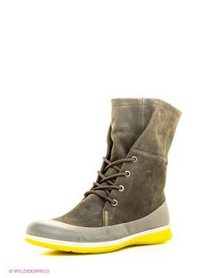 Ботинки ECCO. Цвет: серый, бежевый