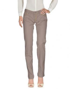 Повседневные брюки ENTRE AMIS. Цвет: голубиный серый