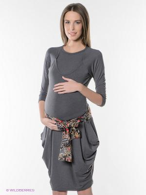 Платье Hunny Mammy. Цвет: серый